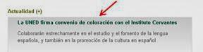 La UNED firmará convenio de coloración con el Instituto Cervantes