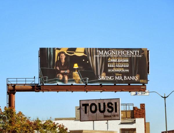 Saving Mr. Banks award consideration billboard