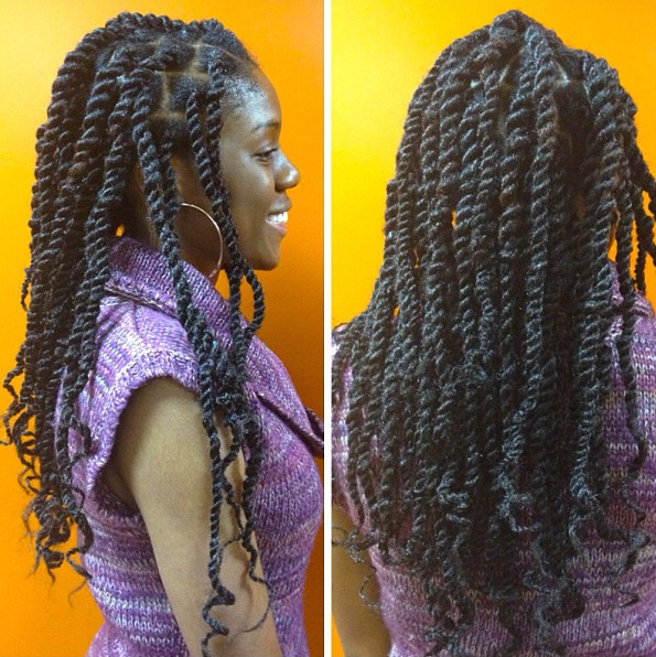 Box Braids with Wavy Hair