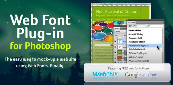 Web fonts plugin for Photoshop