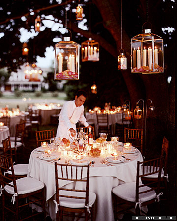 lighting for outdoor wedding receptions