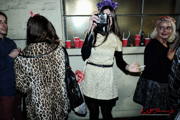 Me being photographed by a woman with a G10 Canon - ORGNL.TV - Stolichnaya Vodka, Sydney Launch Party