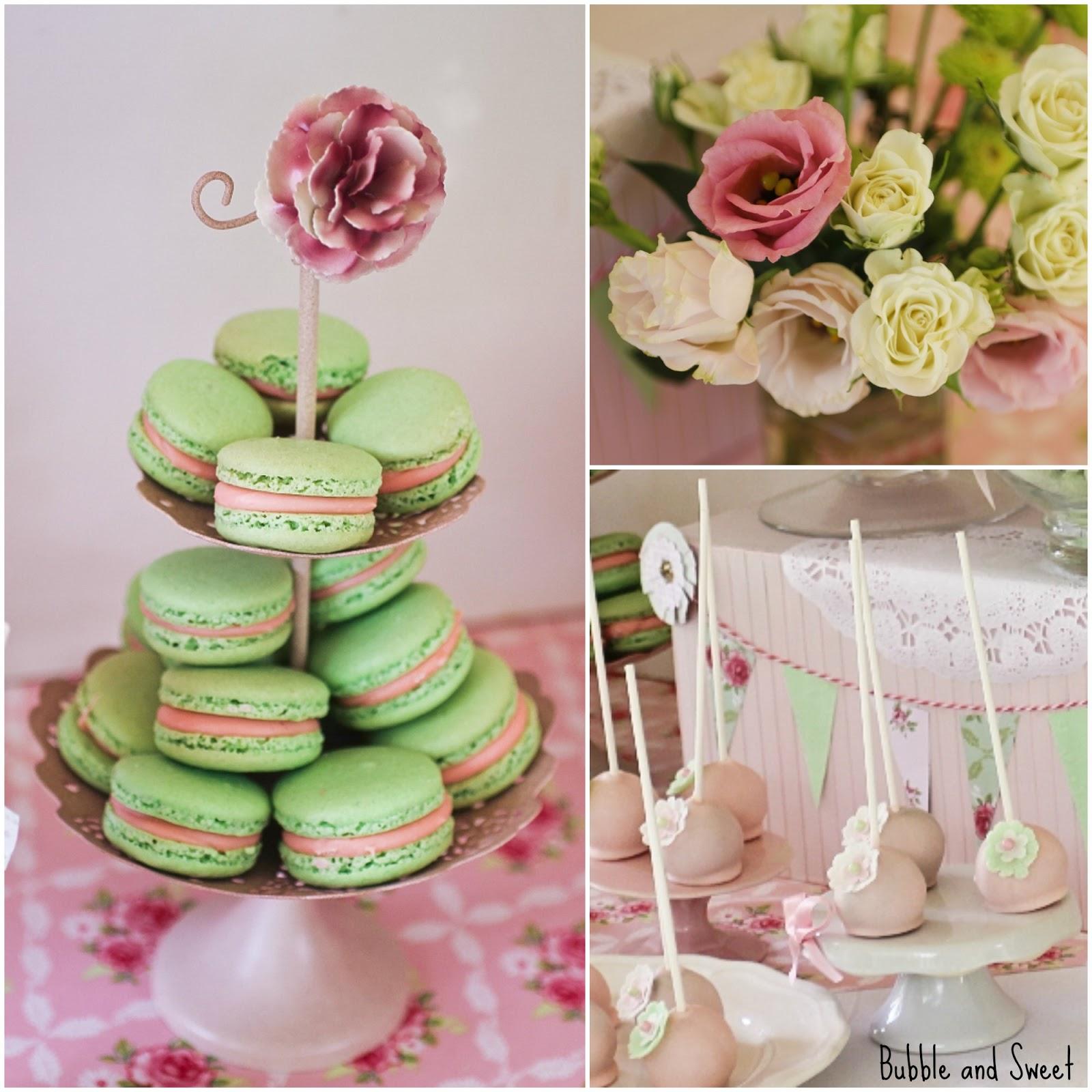 Macarons - green french almond macaron shells with raspberry white ...