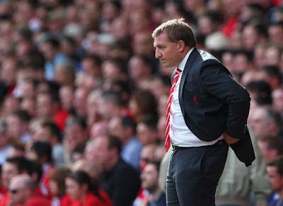 Brendan Rodgers Liverpool vs Arsenal 2012