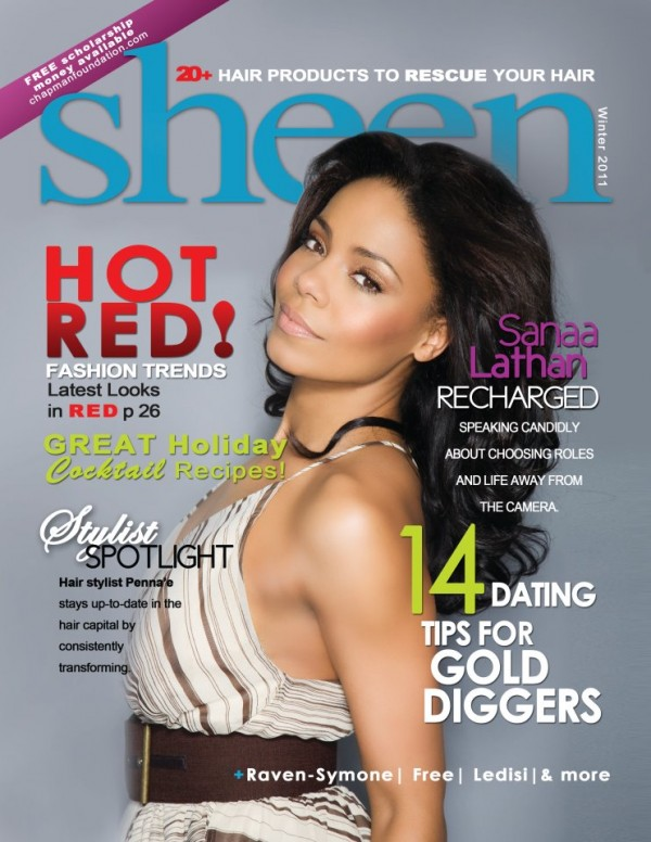 Sanaa Lathan Covers @ SHEEN Magazine 2011