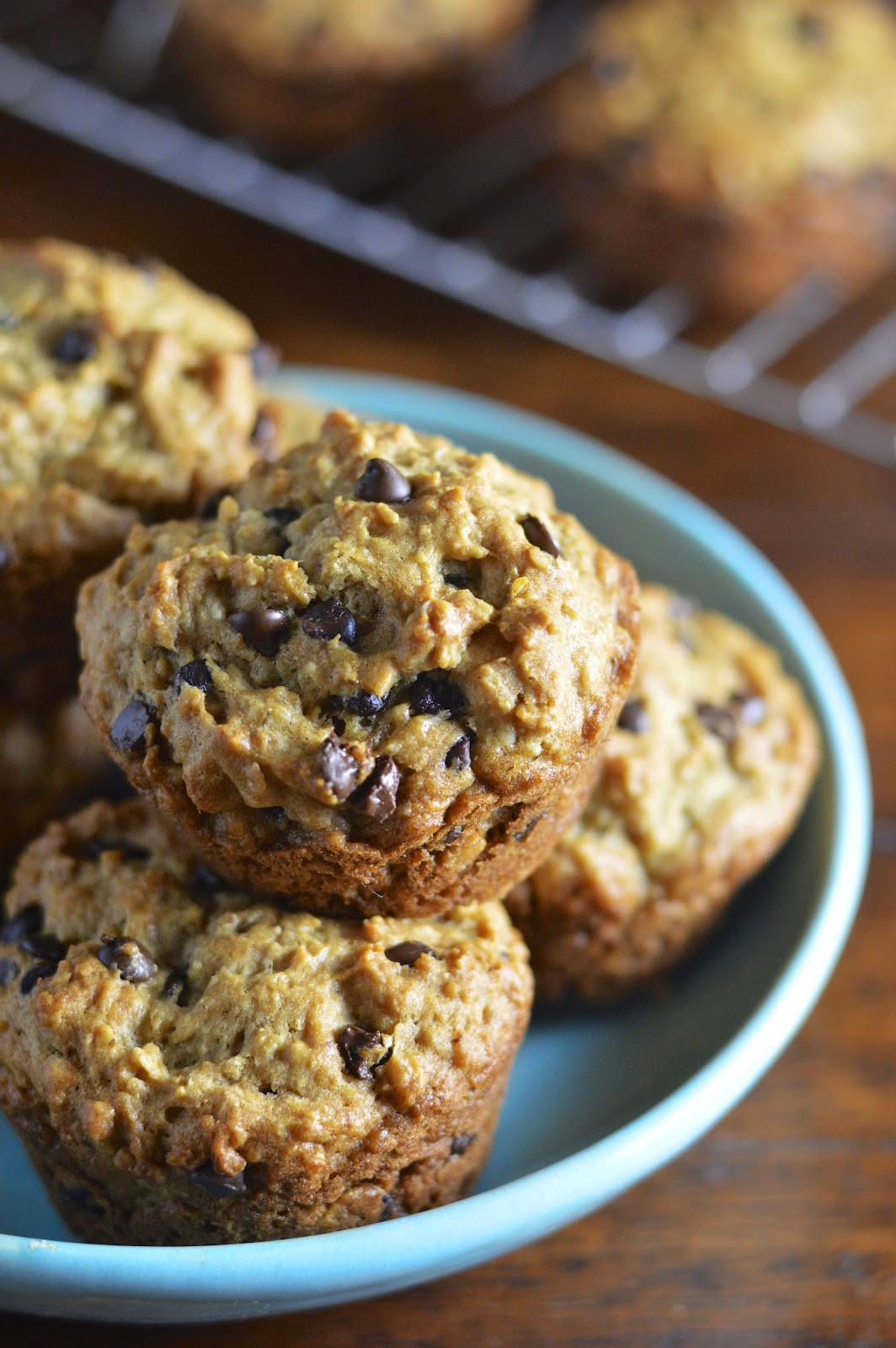 Gluten Free Oatmeal Chocolate Chip Muffins | Virtually Homemade ...