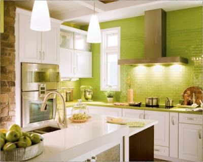 Modern Kitchen Set 2012 Green Photos