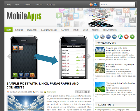 MobileApps Blogger Theme