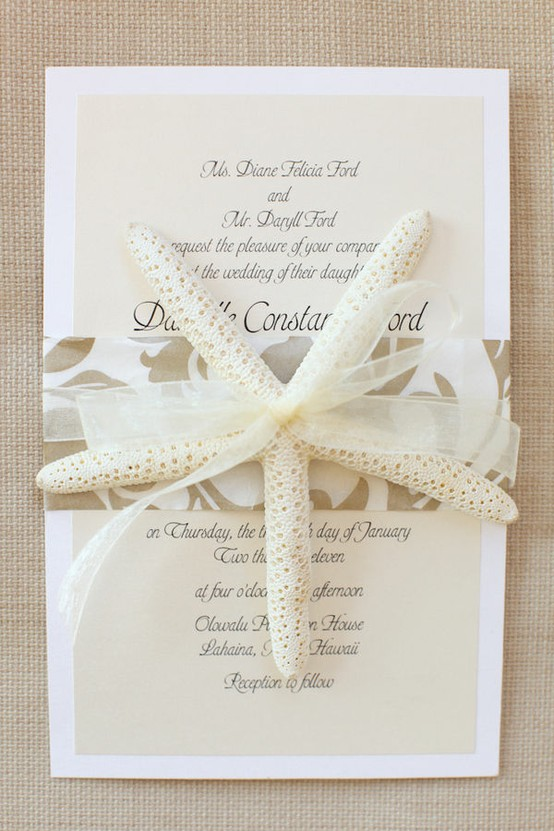 Beach wedding invitations 2013 for Tropical wedding invitations