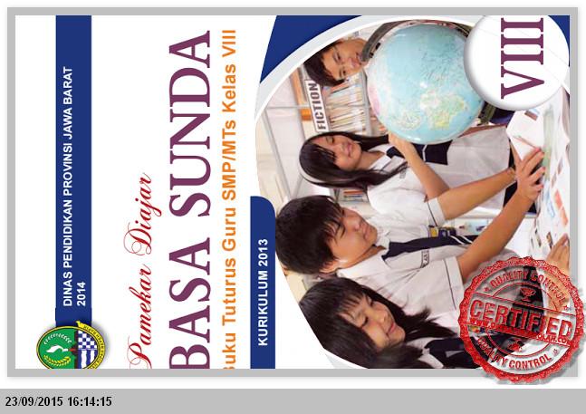 Unduh BUKU PETUNJUK GURU BAHASA SUNDA SMP KELAS VIII Semester 1 dan 2