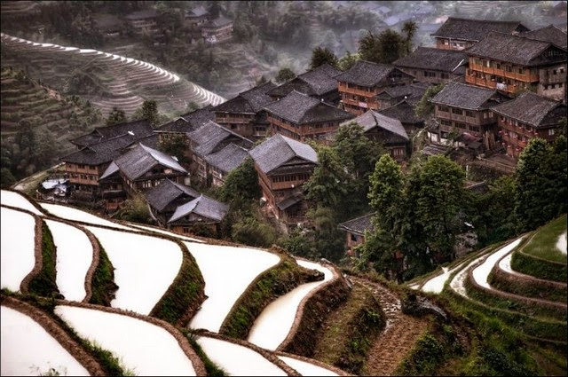 Hidden mountain village in China