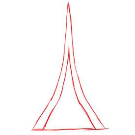 [Jeu]•Déchiffrer le dessin est ton destin• How+to+draw+the+Eiffel+tower+front+step+1