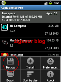 Back Up aplikasi