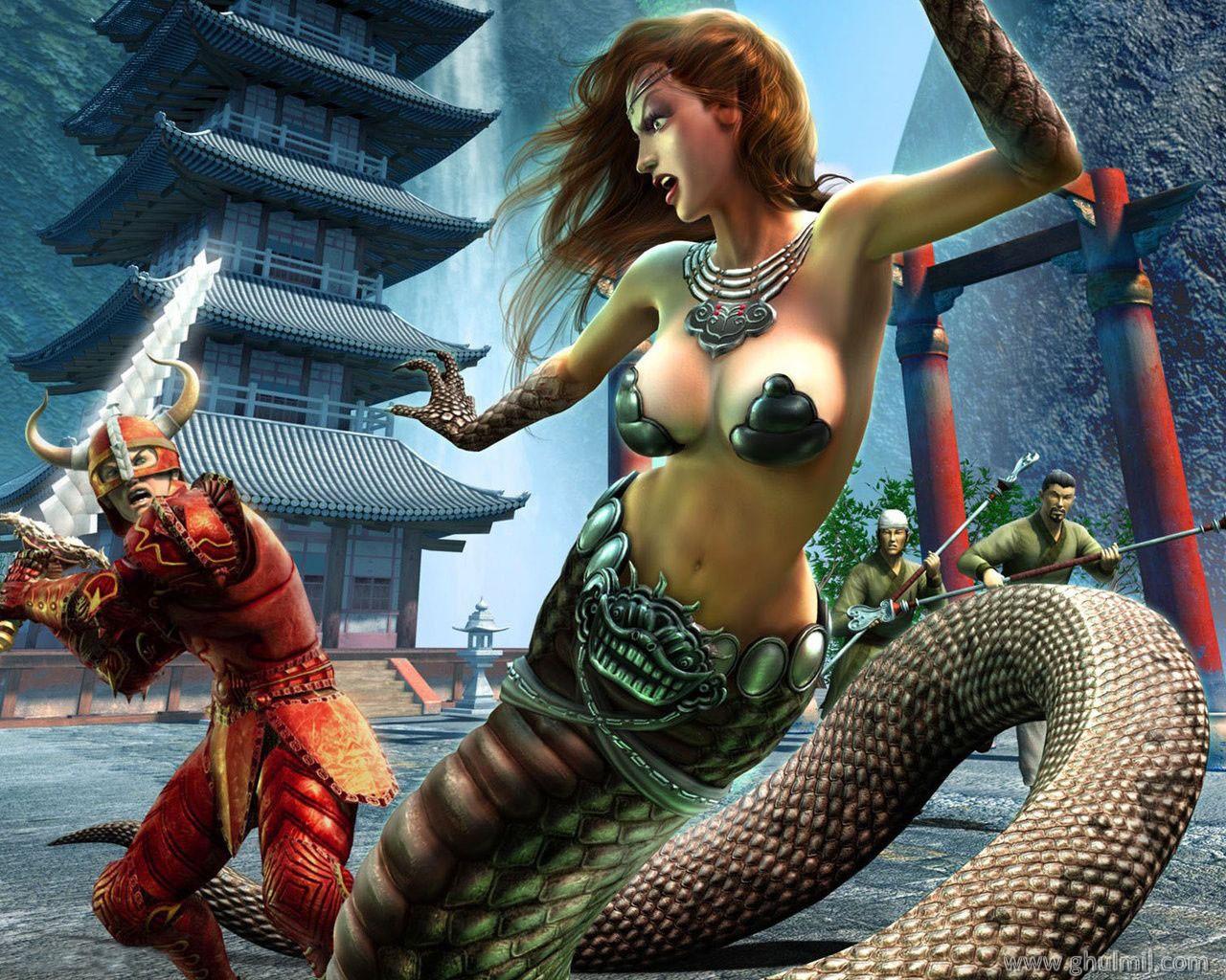 3d snake girl naked pic