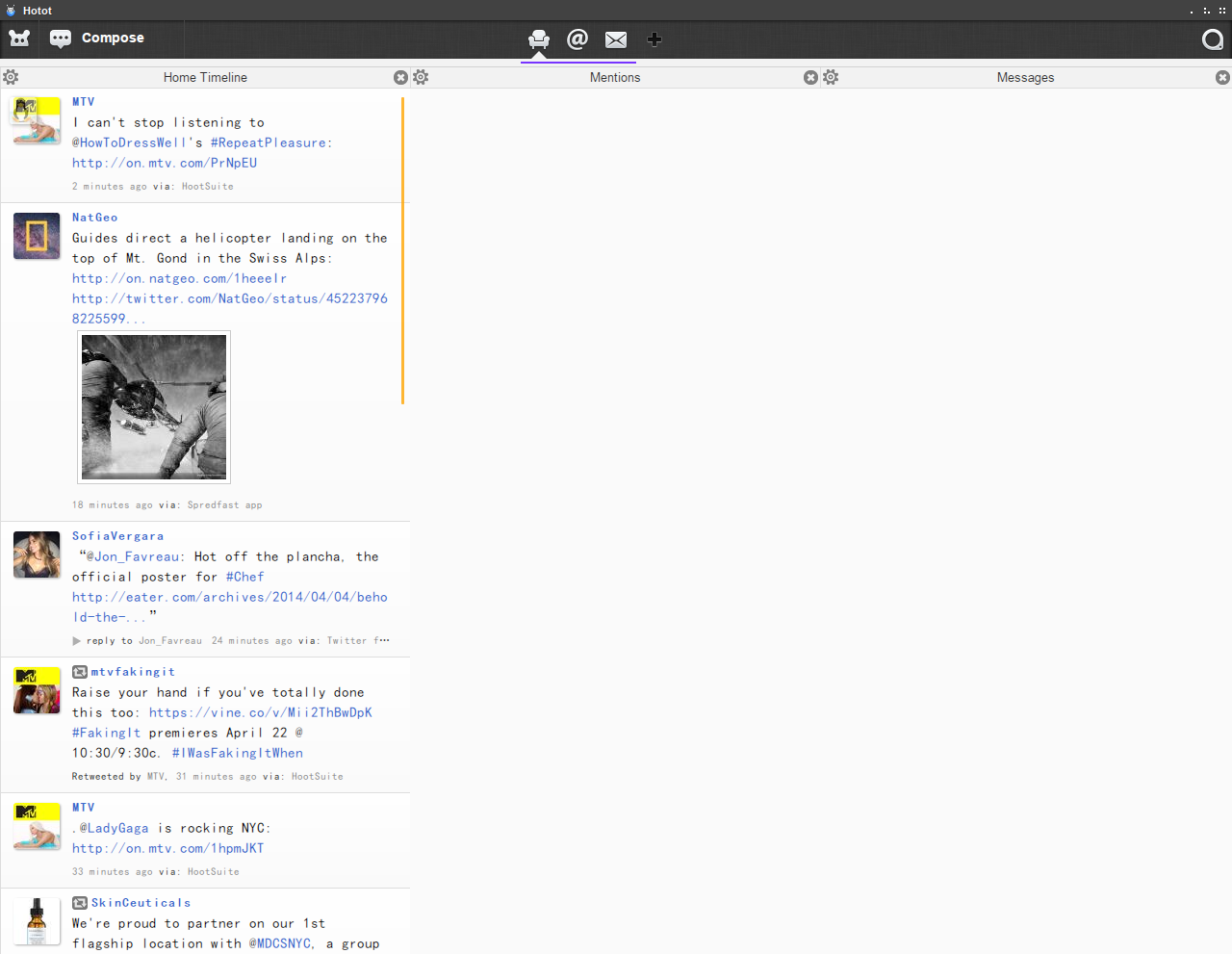 Hotot a lightweight application for Twitter users in Linux