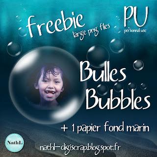 freebie bulles et papier fond marin de NathL
