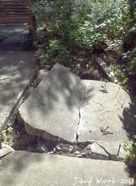how to break a concrete sidewalk slab, sledgehammer