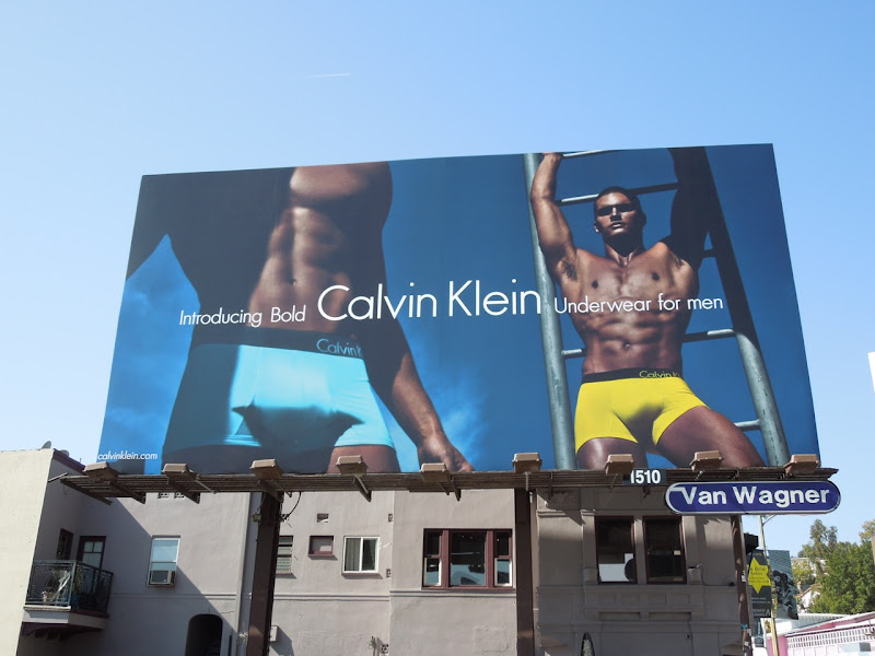 CK Bold male model underwear billboard