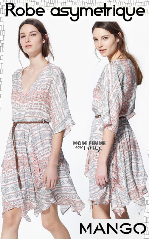 Robe asymétrique imprimée