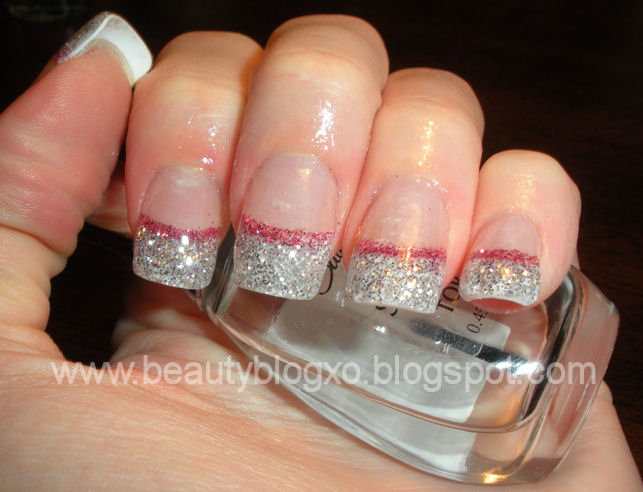 Easy to do nail designs gold glitter