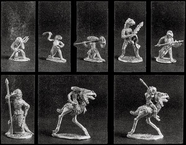 Crested, Dragonewt, Javelin, Newtling, Sling, Runequest, oop, miniatures, lizardmen, skinks, dragonnewts
