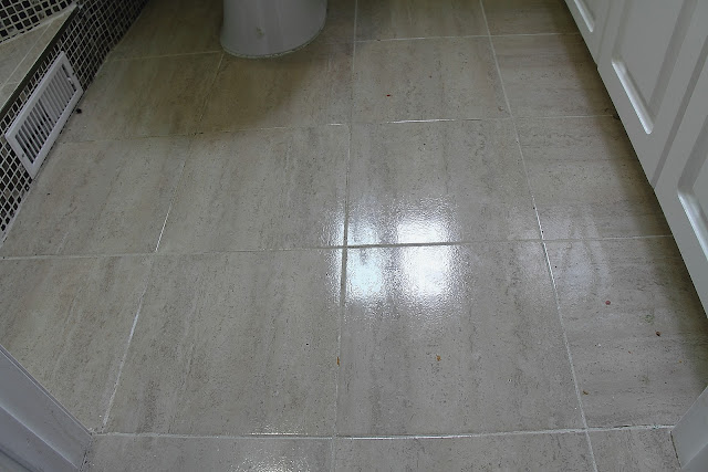 current floor before cleaning grout