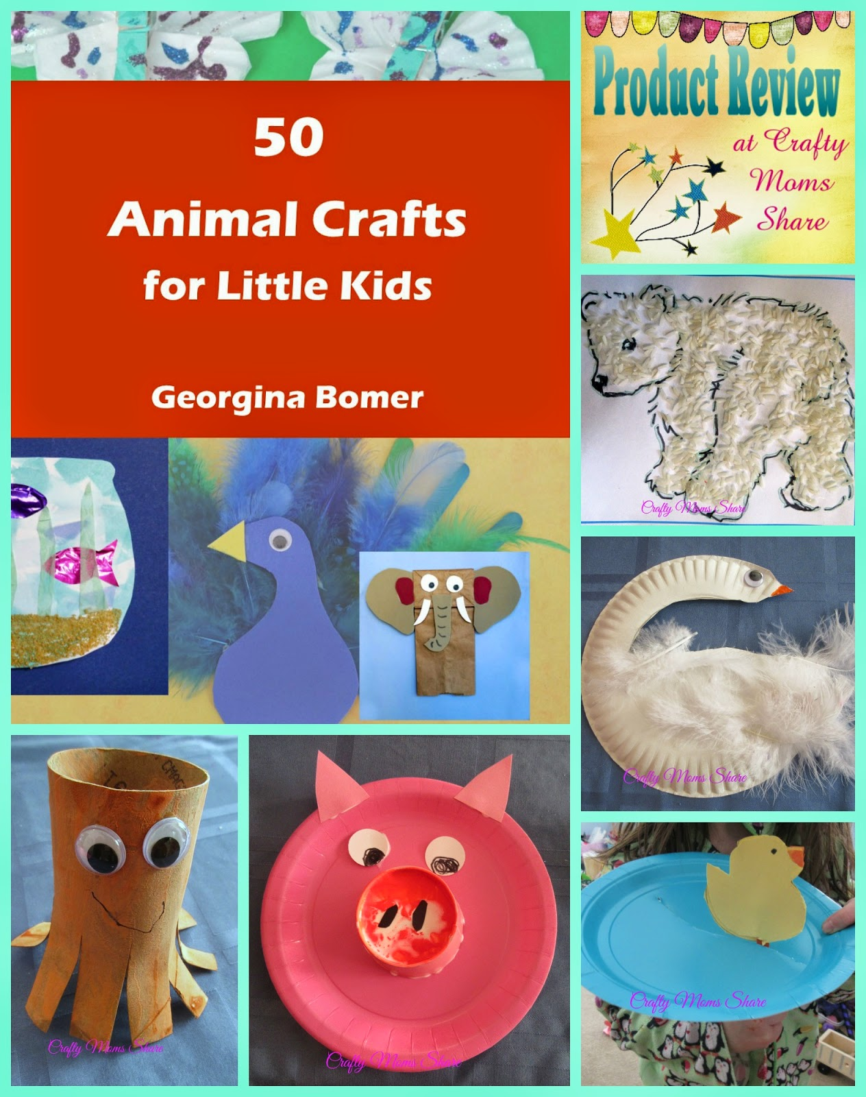 crafty moms share 50 animal crafts for little kids book
