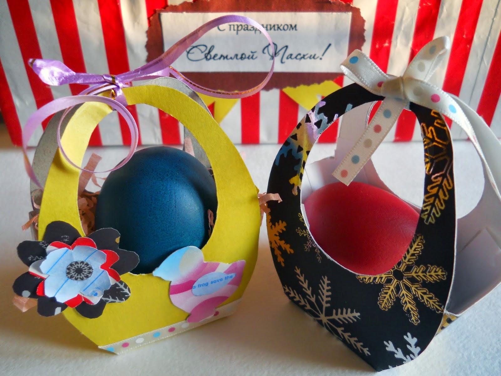 Корзины пасхальные своими руками - уникальные подарочные коробочки для яиц и угощения