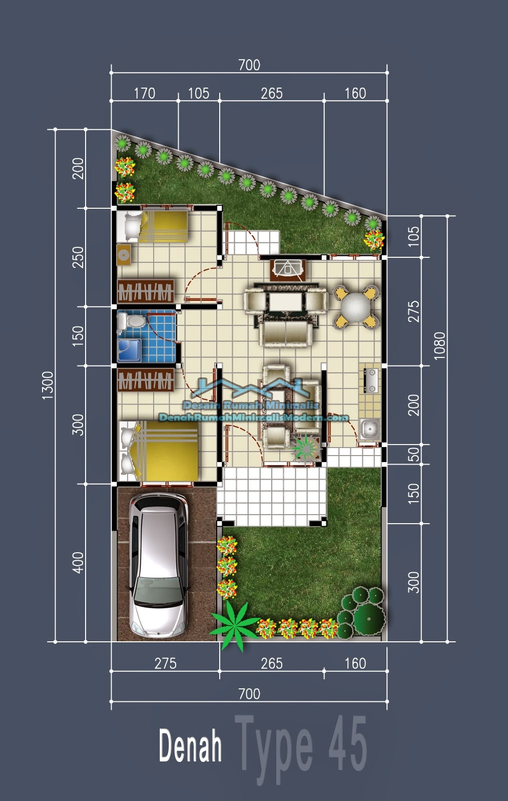 Saiful Pamungkas Desain Inovatif Rumah Type 70