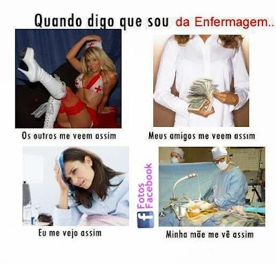 Enfermeira como meus amigos veem