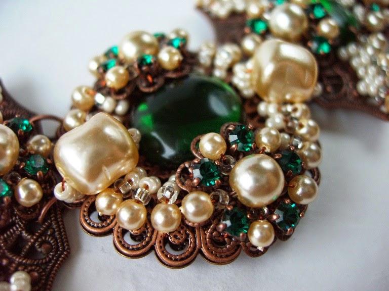 vintage Swarovski crystal rhinestones baroque glass pearl Miriam Haskell style Eesti disainer ehted ビジュー
