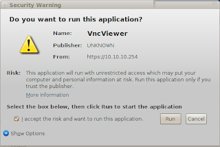 Run VNC Viewer di Proxmox