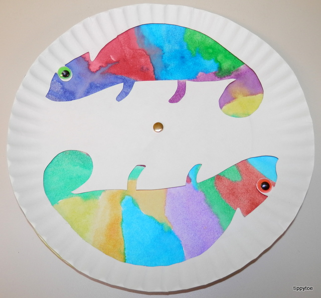 Tippytoe Crafts Colorful Chameleons