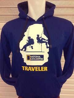 Jual jaket Jaket hoodie Traveler warna biru navy terbaru musim 2015/2016 kualitas grade ori made in thailand di enkosa sport
