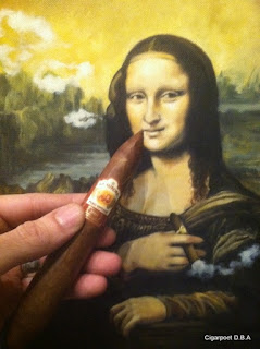 puro vintage cigar by La Aurora smoked by mona lisa