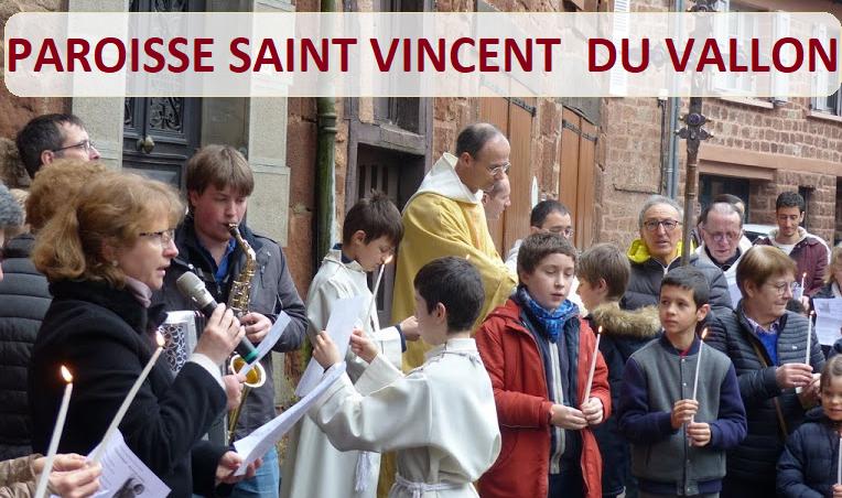 <center><b>Paroisse Saint Vincent du Vallon</b></center>