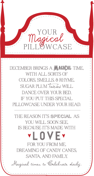 Sissyprint Magical Pillowcase Gift Tag