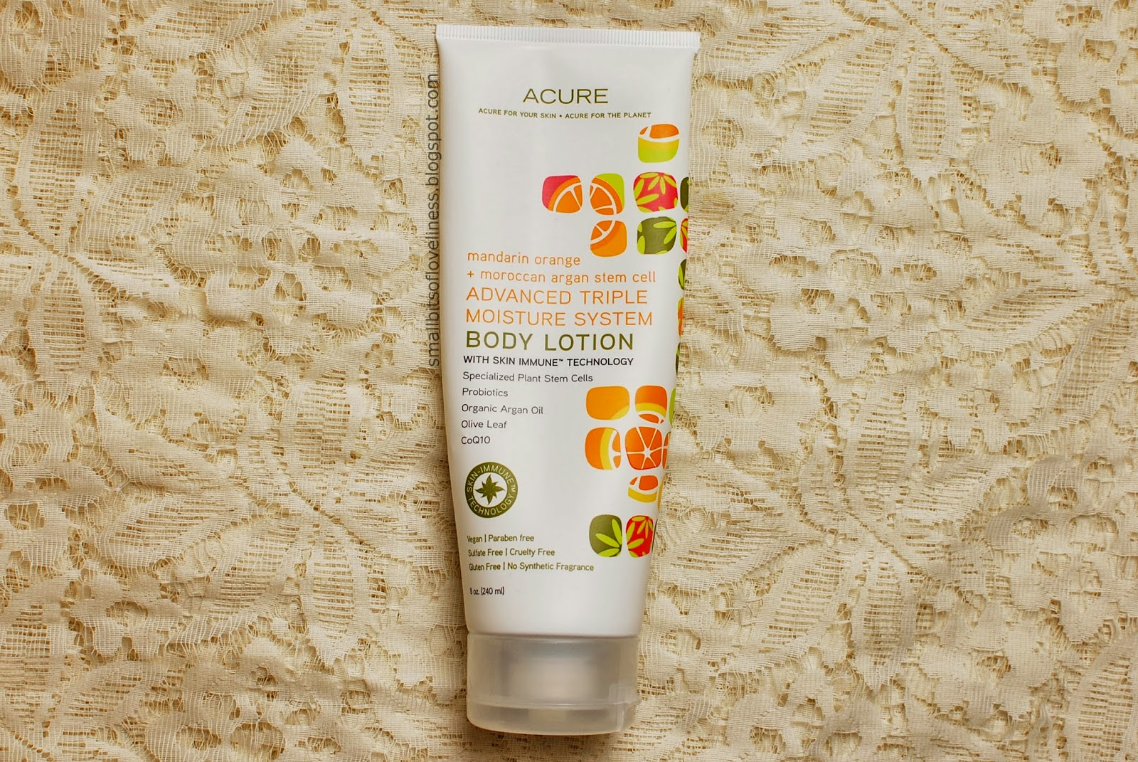 Acure Advanced Triple Moisture System Body Lotion Mandarin Orange