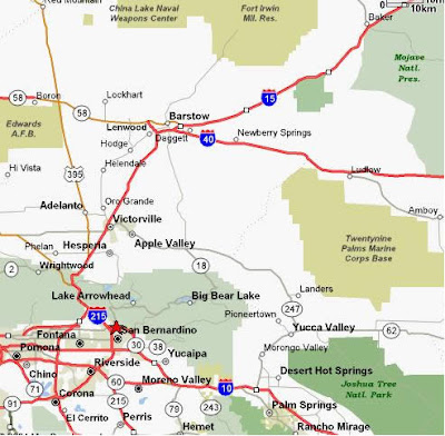 San Bernardino City Map 3