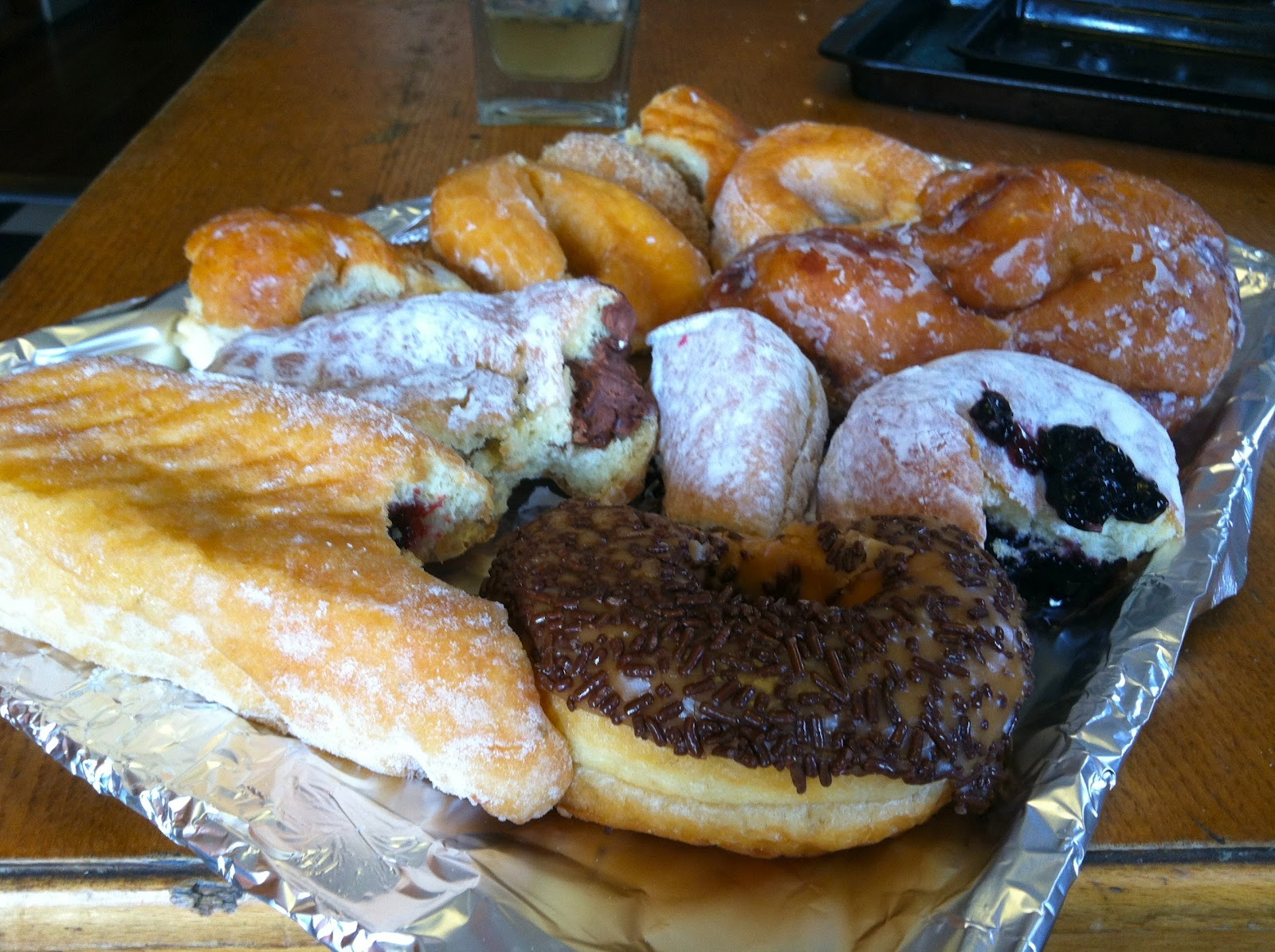 The loaves and fishes-like amount of donuts my original $5 had purchased  and that remained after my initial feasting.