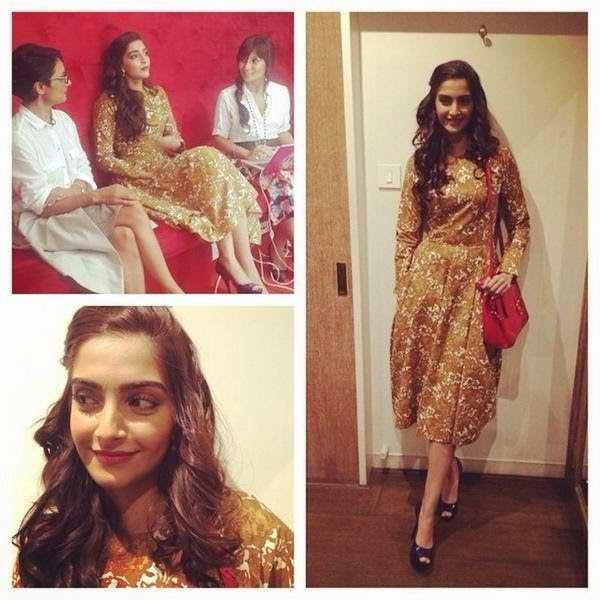 Sonam Kapoor for #Khoobsurat promotions today!