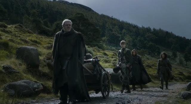 Bran, rickon, osha, hodor, jojen y meera reed