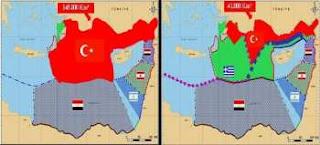 Νίκος Λυγερός, Οι παράλογοι χάρτες της Τουρκίας, ΑΟΖ, Ελλάδα, Κύπρος