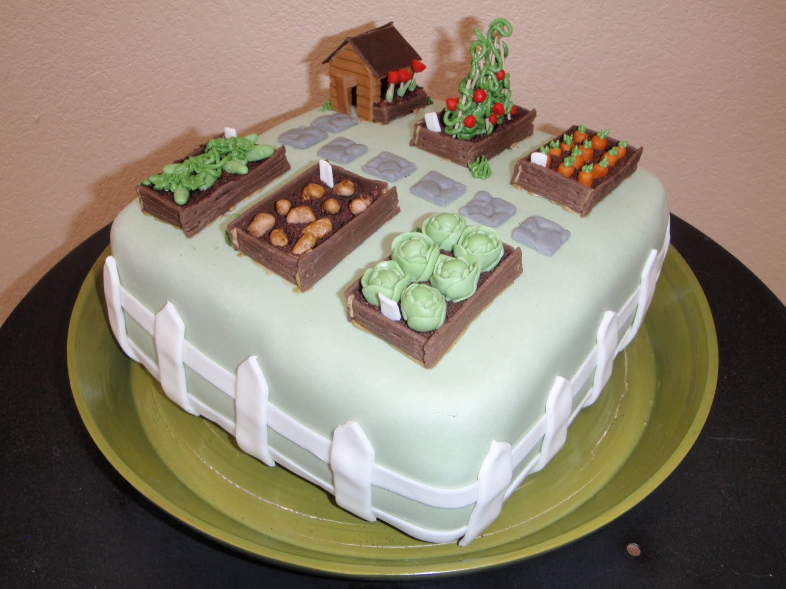 FLIRTING WITH FROSTING: Vegetable Garden Cake
