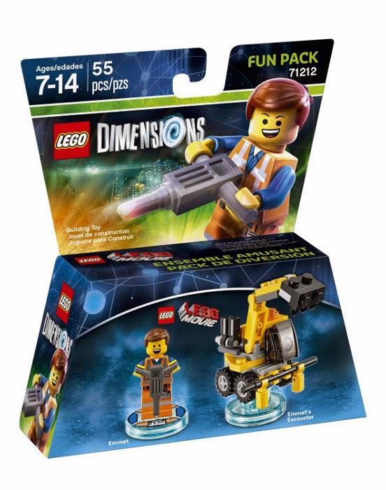 TOYS - LEGO Dimensions  71212 Emmet Fun Pack | Pack de diversión  Figura - Muñeco | Lego Movie  Emmet and Emmett's Excavator | La excavadora de Emmet  Xbox One, PlayStation 4, Nintendo Wii U, PlayStation 3, Xbox 360  Septiembre 2015 | Juguetes & Videojuegos  Piezas: | Edad: 7-14 años