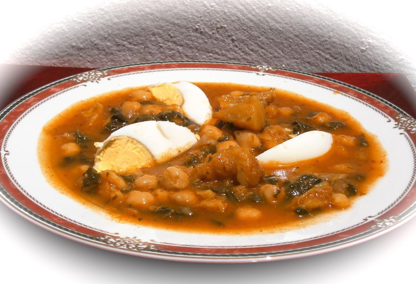 La mesa de la cocina potaje de bacalao garbanzos y espinacas - Garbanzos espinacas bacalao ...