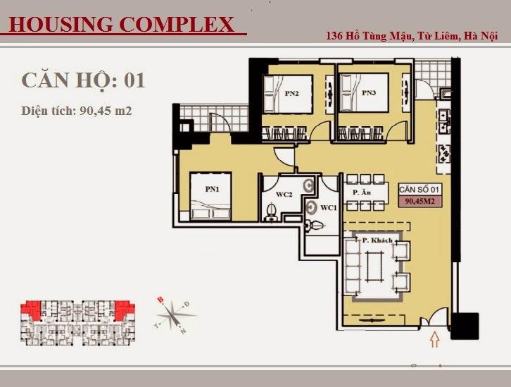 136 Hồ Tùng Mậu - Vinaconex 7 - Housing Complex - CH01