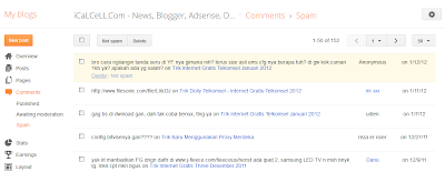 Fitur Comment Anti Spam Blogger