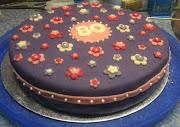 Mijn allereerste opdracht was een taart voor de 80e verjaardag van de oma .