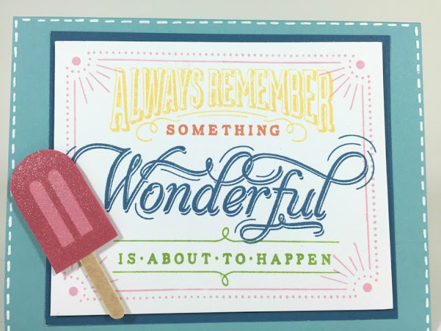 Stamped Something Wonderful card